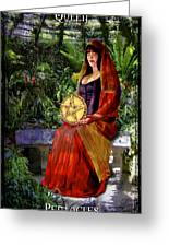 Queen Of Pentacles Greeting Card by Tammy Wetzel