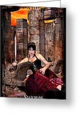 queen of Swords Greeting Card by Tammy Wetzel