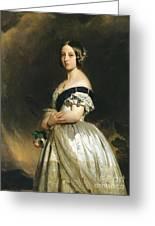Queen Victoria Greeting Card by Franz Xaver Winterhalter