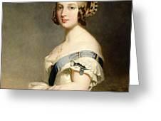 Queen Victoria Greeting Card by Franz Xavier Winterhalter