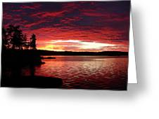 Quetico Sun Rise Greeting Card by Peter  McIntosh