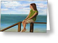 Quiet Moment Greeting Card by Roseann Gilmore