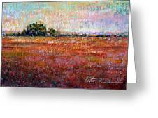 Quiet Over The Field Greeting Card by Peter R Davidson