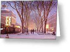 Quincy Market Stroll Greeting Card by Susan Cole Kelly