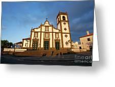Rabo De Peixe Church Greeting Card by Gaspar Avila