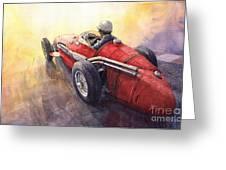 Racing Light Maserati 250 F Greeting Card by Yuriy  Shevchuk