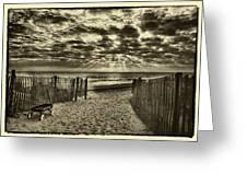 Radio Flyer At Dewey Beach Greeting Card by Jack Paolini