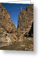 Rafting On The Arkansas River Greeting Card by Richard Nowitz