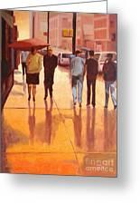 Rain In Manhattan Number Eighteen Greeting Card by Tate Hamilton