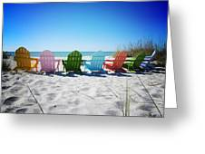 Rainbow Beach Vanilla Pop Greeting Card by Chris Andruskiewicz