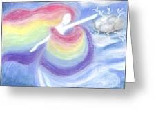 Rainbow Goddess Greeting Card by Cassandra Geernaert