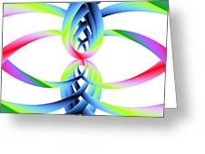 Rainbow Loops Greeting Card by Michael Skinner