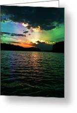 Rainbow Sunset Greeting Card by Adam LeCroy