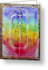 Rainbowbuddha Greeting Card by Joan Doyle