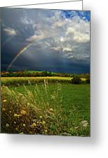 Rainbows Greeting Card by Phil Koch