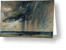 Rainstorm Over The Sea Greeting Card by John Constable