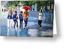 Rainy Days And Mondays Greeting Card by Judy Kay