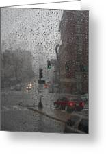 Rainy Days In Boston Greeting Card by Julie Lueders