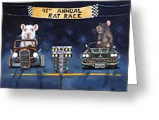 Rat Race Greeting Card by Leah Saulnier The Painting Maniac