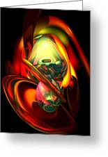 Raw Fury Abstract Greeting Card by Alexander Butler