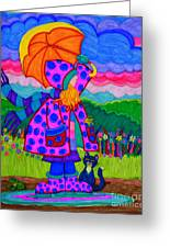 Ready For The Rain Greeting Card by Nick Gustafson