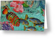 Real Fish Do Not Need Maps Greeting Card by Anne-Elizabeth Whiteway