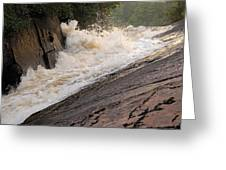 Rebecca Falls At Sunset Greeting Card by Larry Ricker