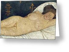 Reclining Female Nude Greeting Card by Paula Modersohn-Becker
