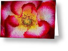 Red And White And Glass Greeting Card by Leonard Rosenfield