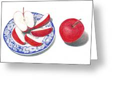 Red Apples Greeting Card by Loraine LeBlanc