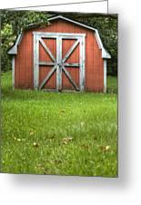 Red Barn Greeting Card by Dustin K Ryan