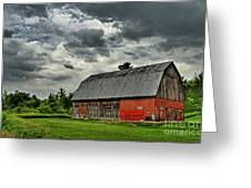 Red Barn Greeting Card by Tim Wilson