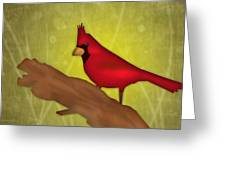 Red Bird Greeting Card by Melisa Meyers