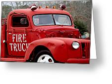 Red Fire Truck Greeting Card by Michael Thomas