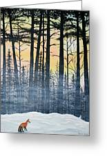 Red Fox Morning Hunt Greeting Card by Brenda Baker
