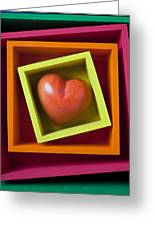 Red Heart In Box Greeting Card by Garry Gay
