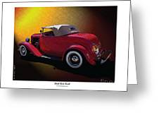 Red Hot Rod Greeting Card by Kenneth De Tore