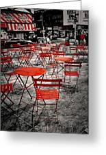 Red In My World - New York City Greeting Card by Angie Tirado