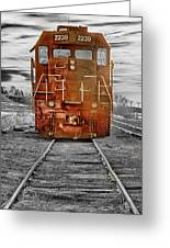 Red Locomotive Greeting Card by James BO  Insogna