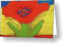Red Number 1 Greeting Card by Mary Carol Williams