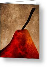Red Pear IIi Greeting Card by Carol Leigh