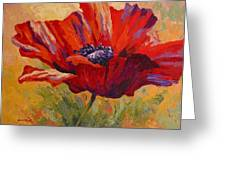 Red Poppy II Greeting Card by Marion Rose
