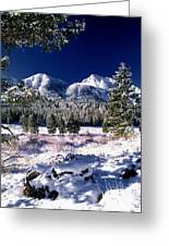 Red Rock Pass Winter Greeting Card by Leland D Howard