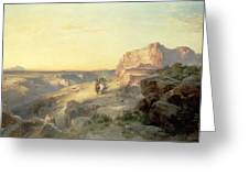 Red Rock Trail Greeting Card by Thomas Moran