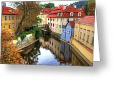 Red Roofs Of Prague Greeting Card by Jay Lee