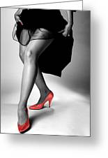 Red Shoes Greeting Card by Jerry Taliaferro
