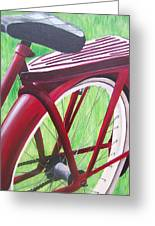 Red Super Cruiser Bicycle Greeting Card by Charlene Cloutier