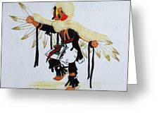 Red Tail Hawk Greeting Card by Mary Rogers