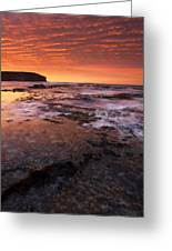 Red Tides Greeting Card by Mike  Dawson