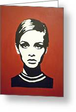 Red Twiggy Greeting Card by Ruth Oosterman